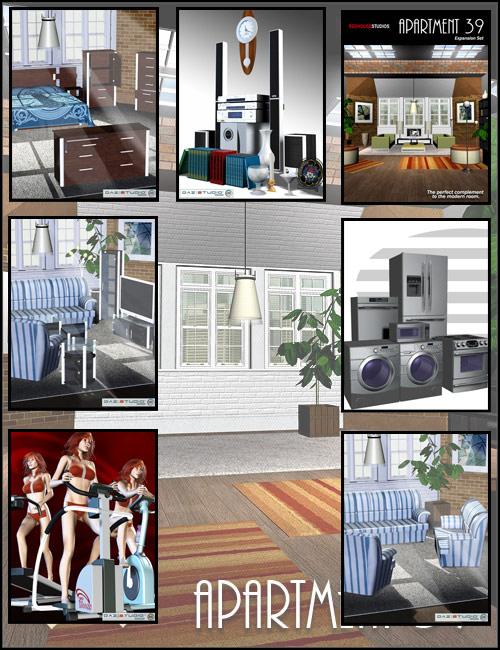 Modern Apartment Bundle by: , 3D Models by Daz 3D