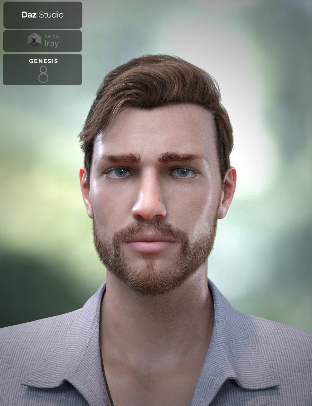Trevor Hair Set for Genesis 8 Male(s) by: Neftis3D, 3D Models by Daz 3D