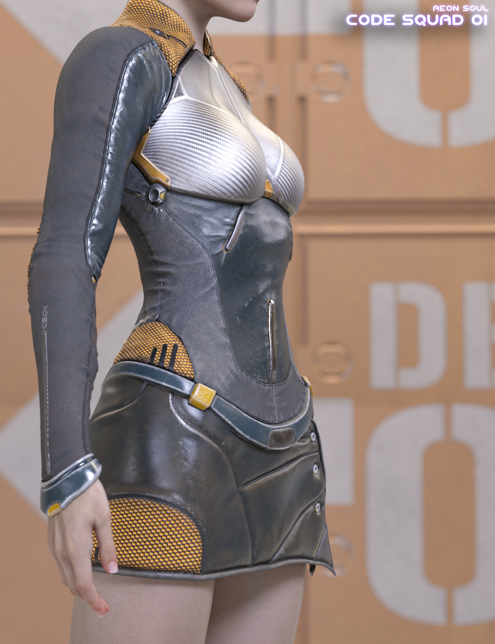 Code Squad 01 for Genesis 8 Female(s) by: Aeon Soul, 3D Models by Daz 3D