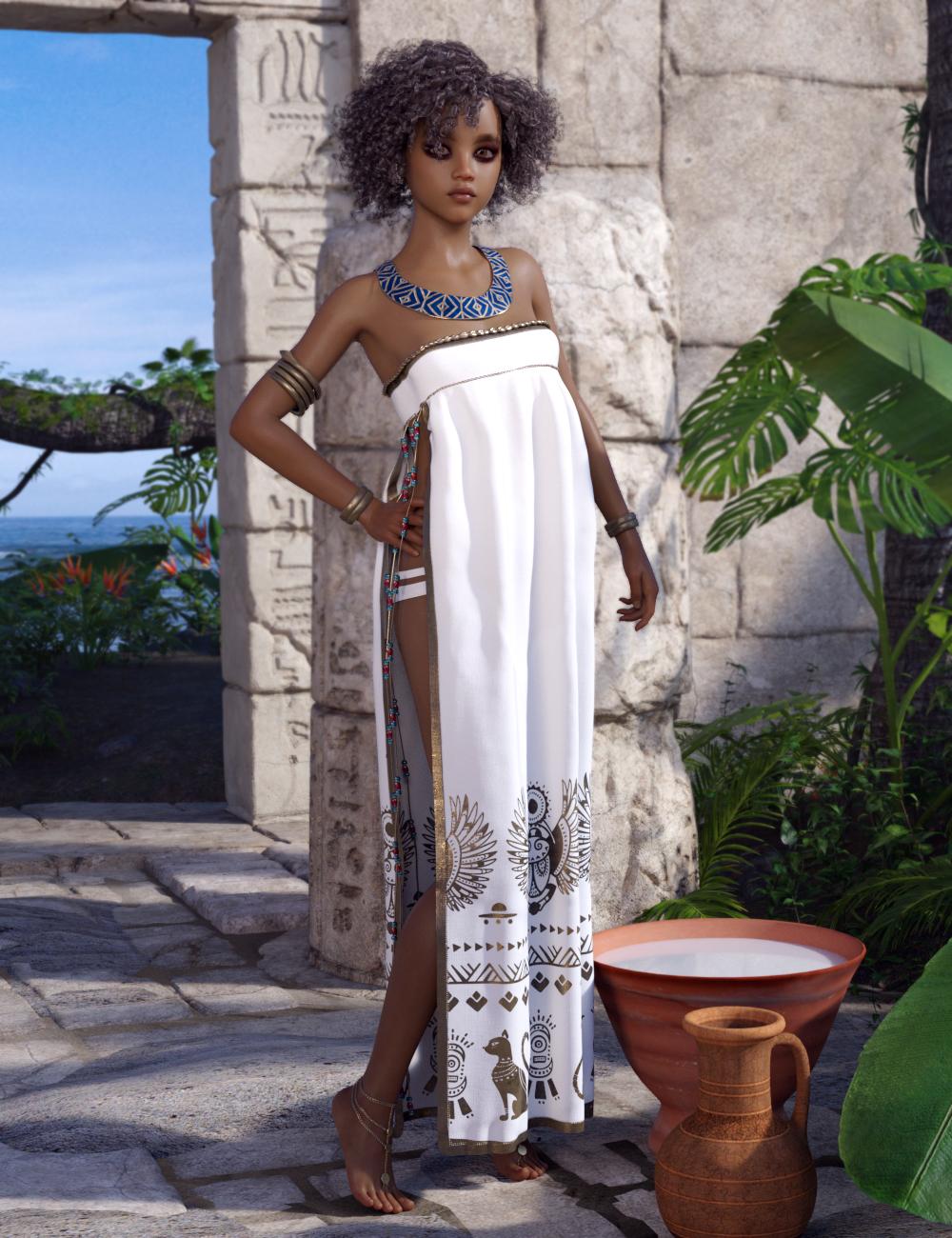 dForce DeNile for Genesis 8 Female(s) by: Moonscape GraphicsPoisenedLilySade, 3D Models by Daz 3D