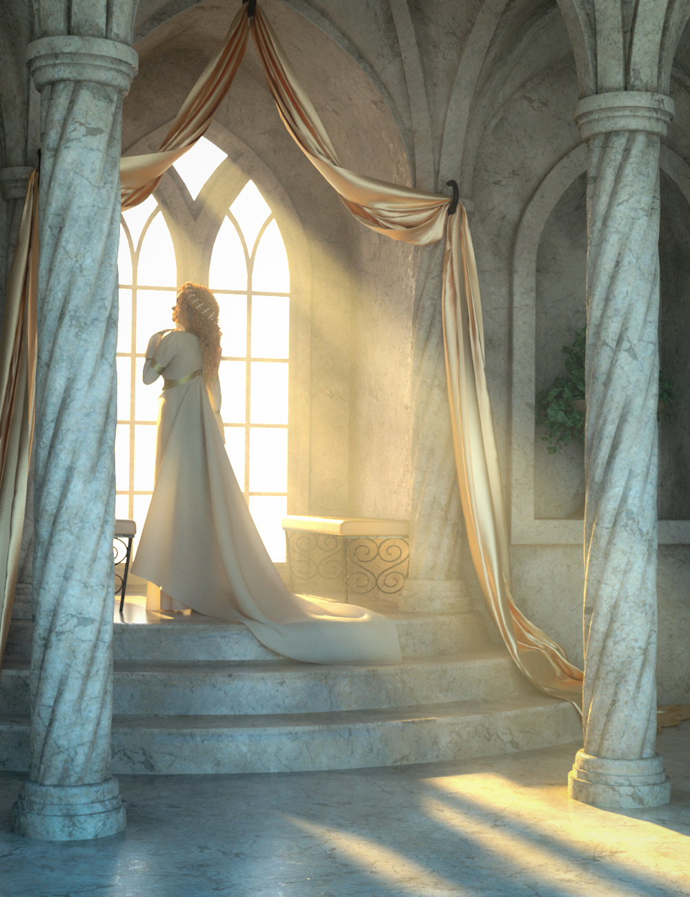 Fantasy Alcove Window by: SloshWerks, 3D Models by Daz 3D