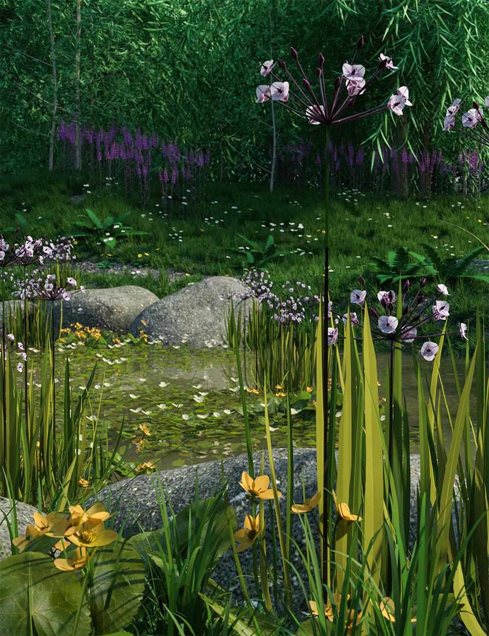 Wild Flowers - Water Plants vol 1 by: MartinJFrost, 3D Models by Daz 3D