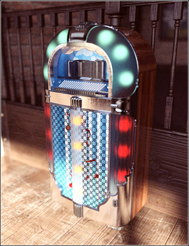 Vintage Jukebox by: David BrinnenForbiddenWhispers, 3D Models by Daz 3D
