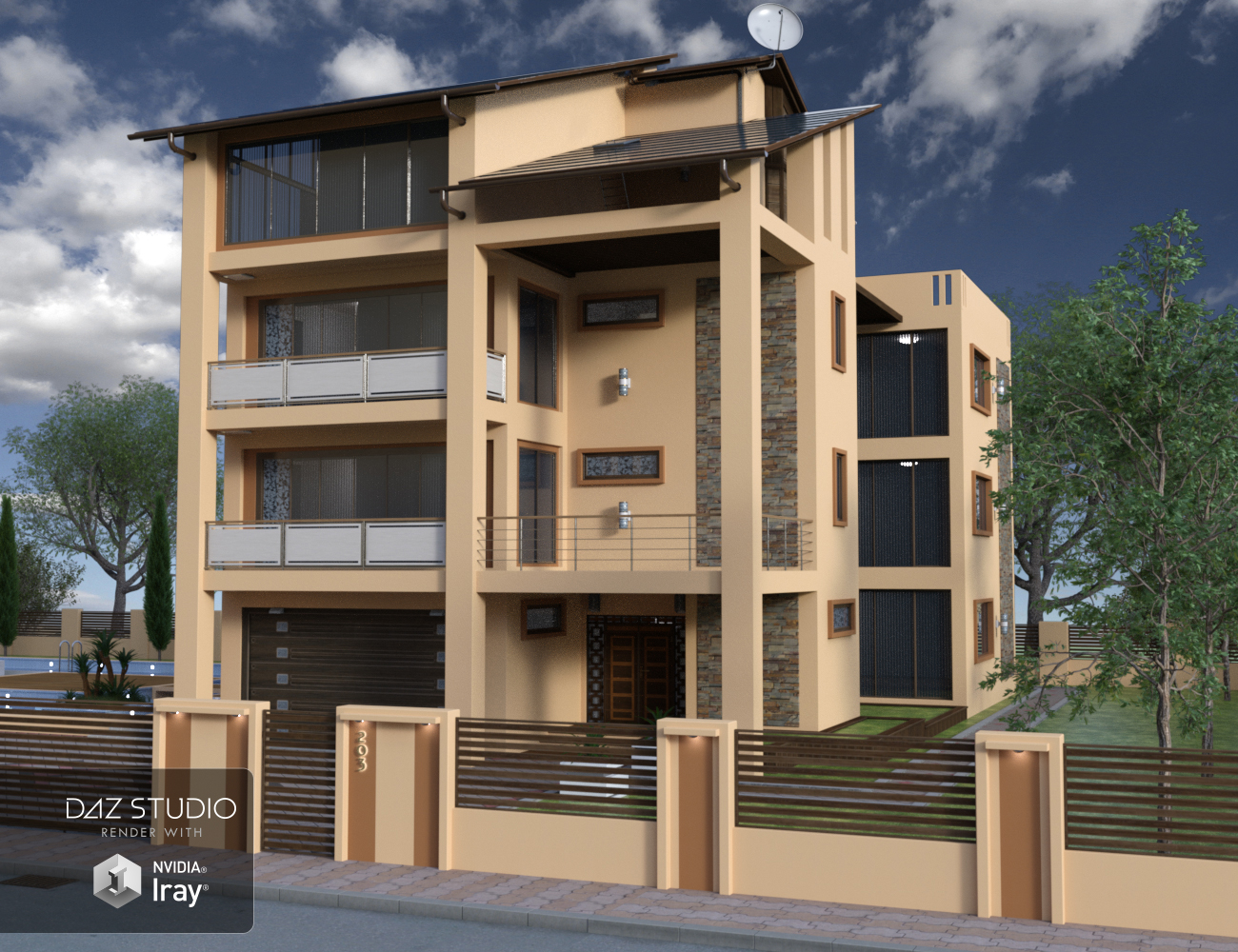 Modern House 2 by: petipet, 3D Models by Daz 3D