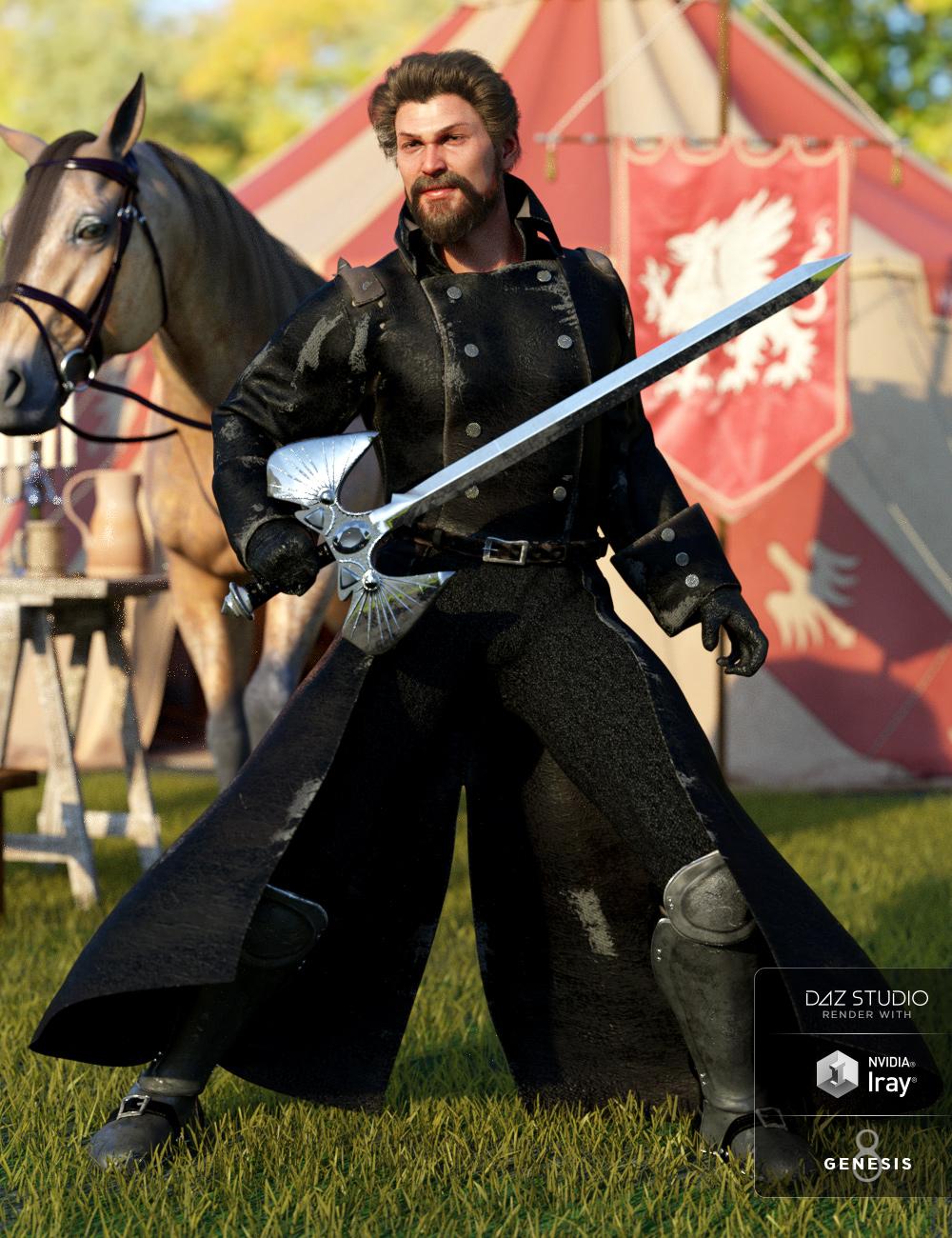 dForce Adventurer Knight for Genesis 8 Male(s) by: Anna BenjaminLyrra Madril, 3D Models by Daz 3D