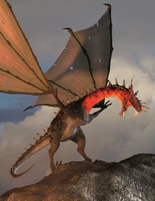 Fork Horn Dragon by: , 3D Models by Daz 3D