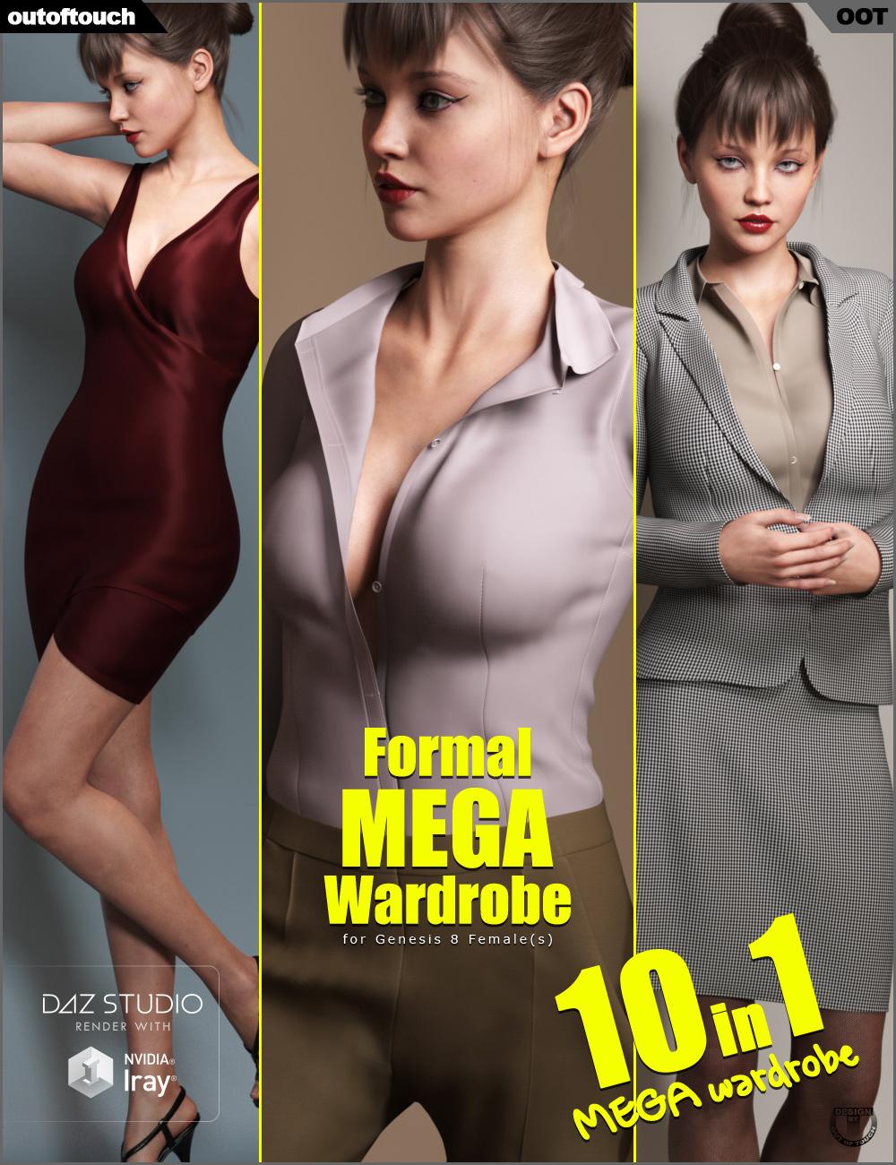 Formal MEGA Wardrobe for Genesis 8 Female(s) by: outoftouch, 3D Models by Daz 3D