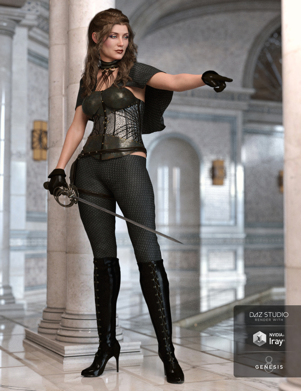 Blackdawn Outfit for Genesis 8 Female(s) by: Anna BenjaminBarbara BrundonUmblefugly, 3D Models by Daz 3D