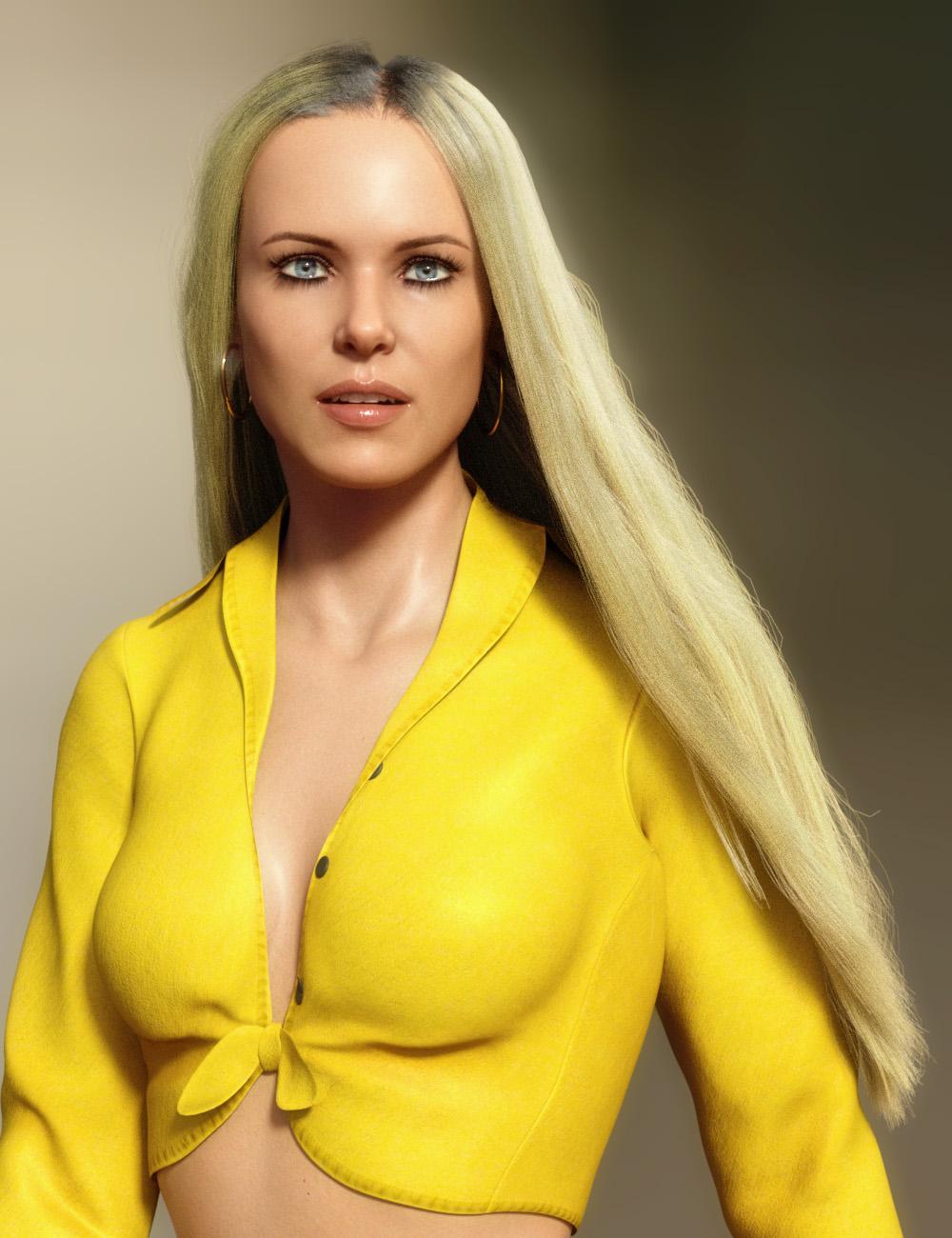 dForce Longdrape Hair for Genesis 3 and 8 Female(s) by: PhilW, 3D Models by Daz 3D