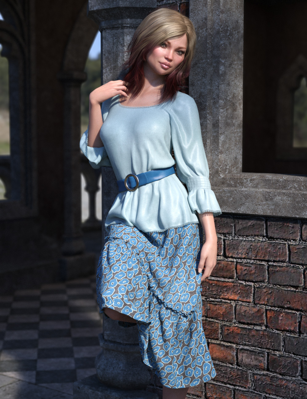 dForce Collection 03 - Boho Outfit for Genesis 8 Female(s) by: esha, 3D Models by Daz 3D