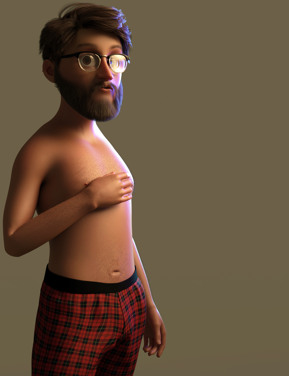 Toon Dad and Fatherly Beard and Accessories for Genesis 8 Male by: JoeQuick, 3D Models by Daz 3D