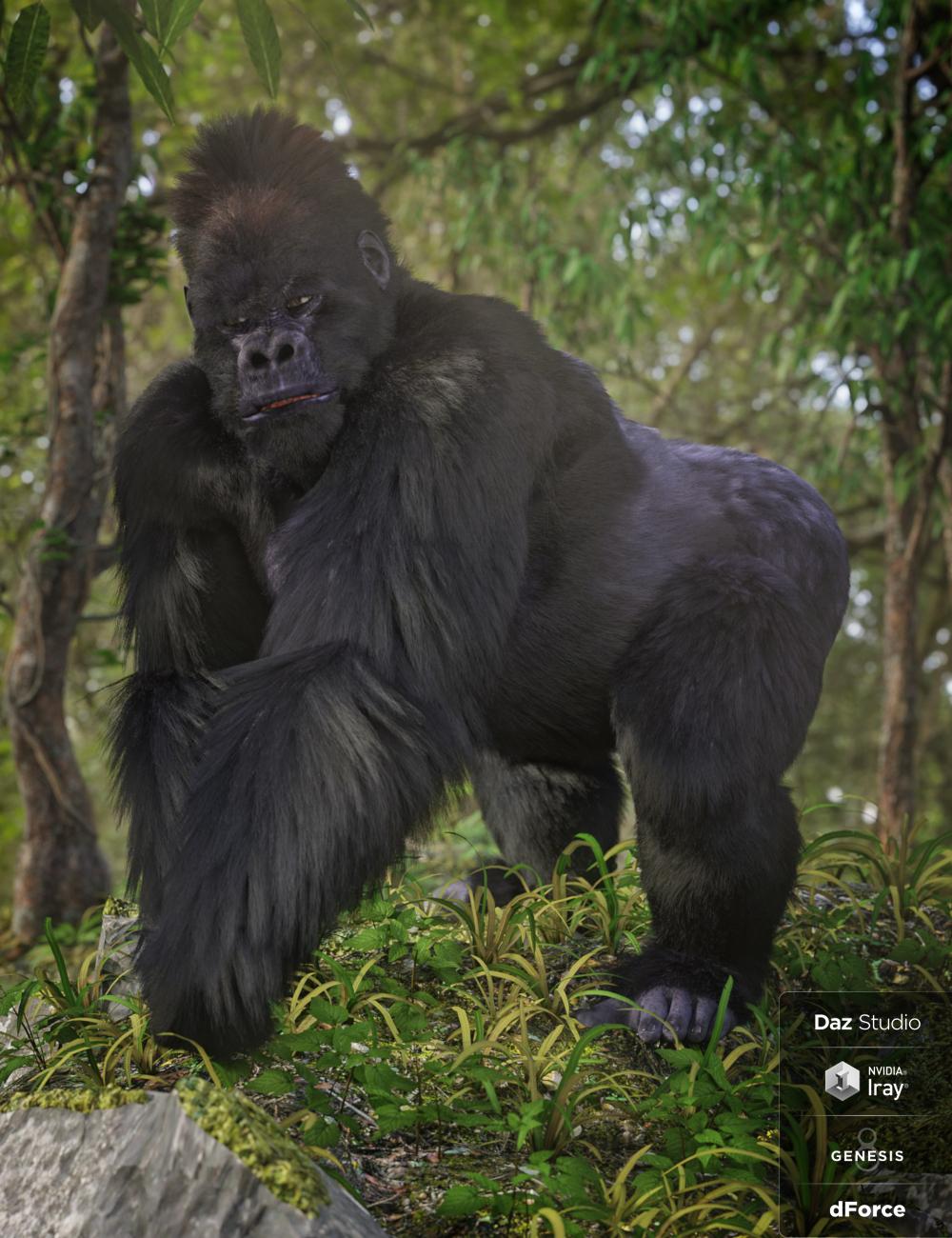 Gorilla for Genesis 8 Male by: , 3D Models by Daz 3D