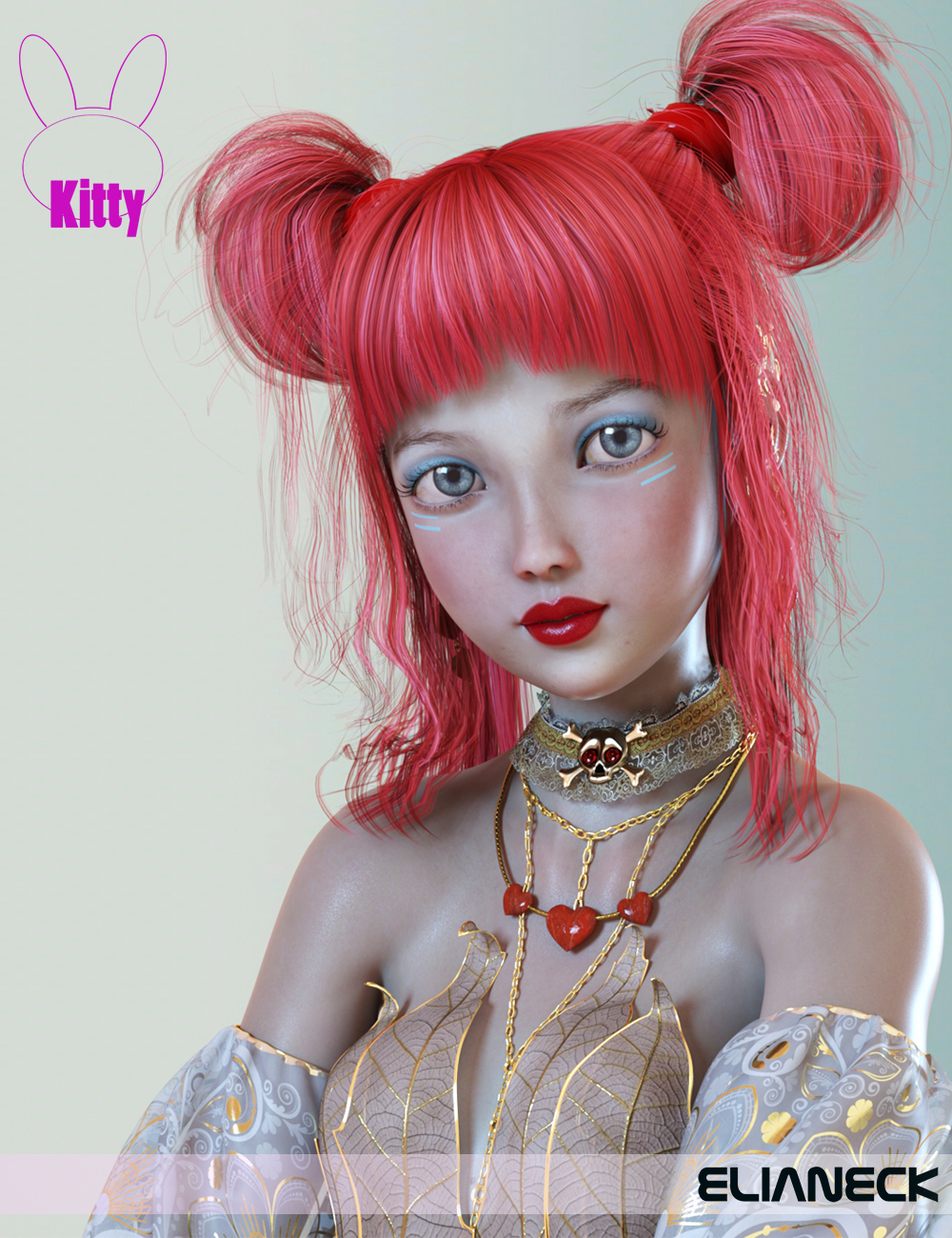 Kitty for Kanade 8 by: Elianeck, 3D Models by Daz 3D