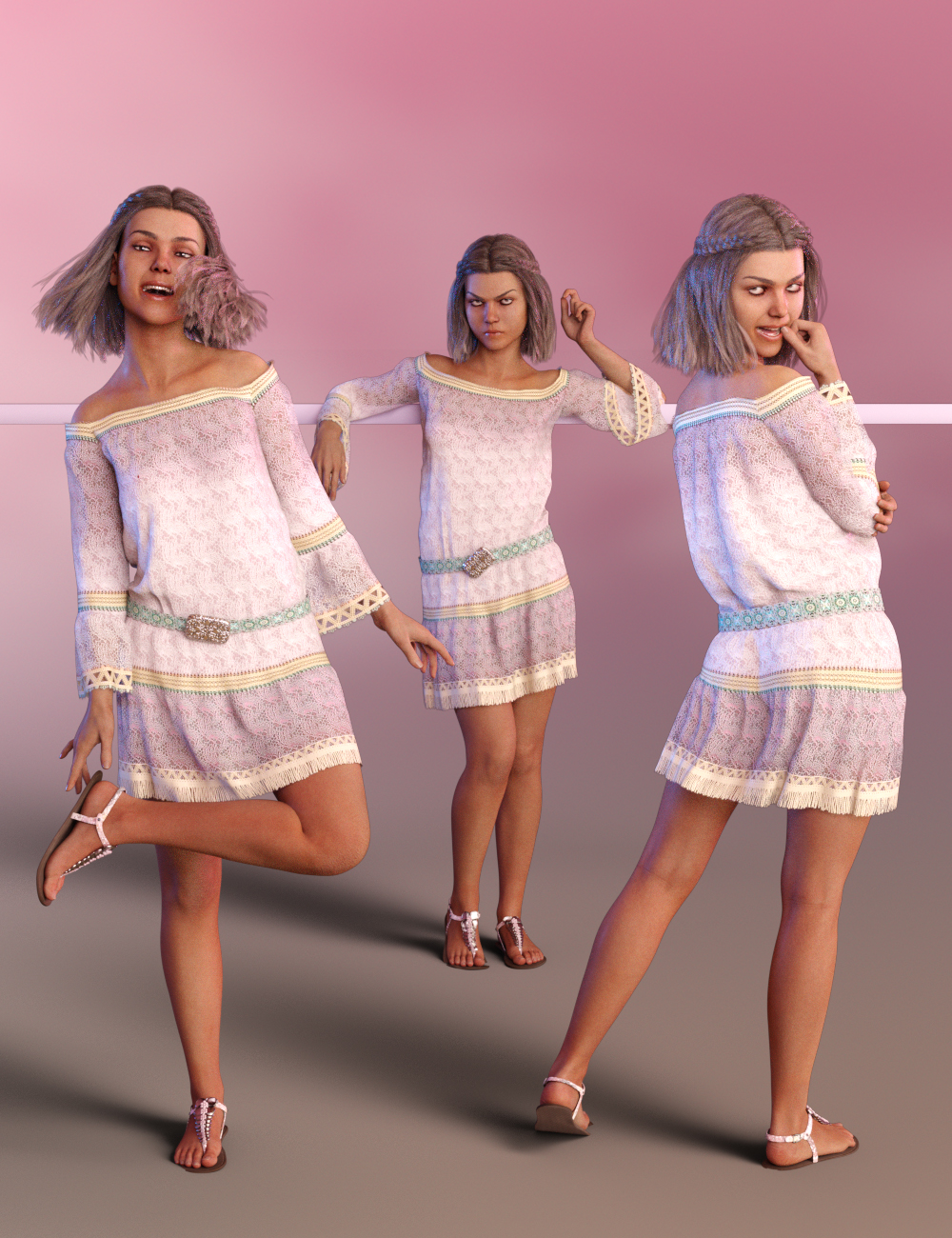 Sass Poses for Teen Jane 8 and Genesis 8 Female by: lunchlady, 3D Models by Daz 3D