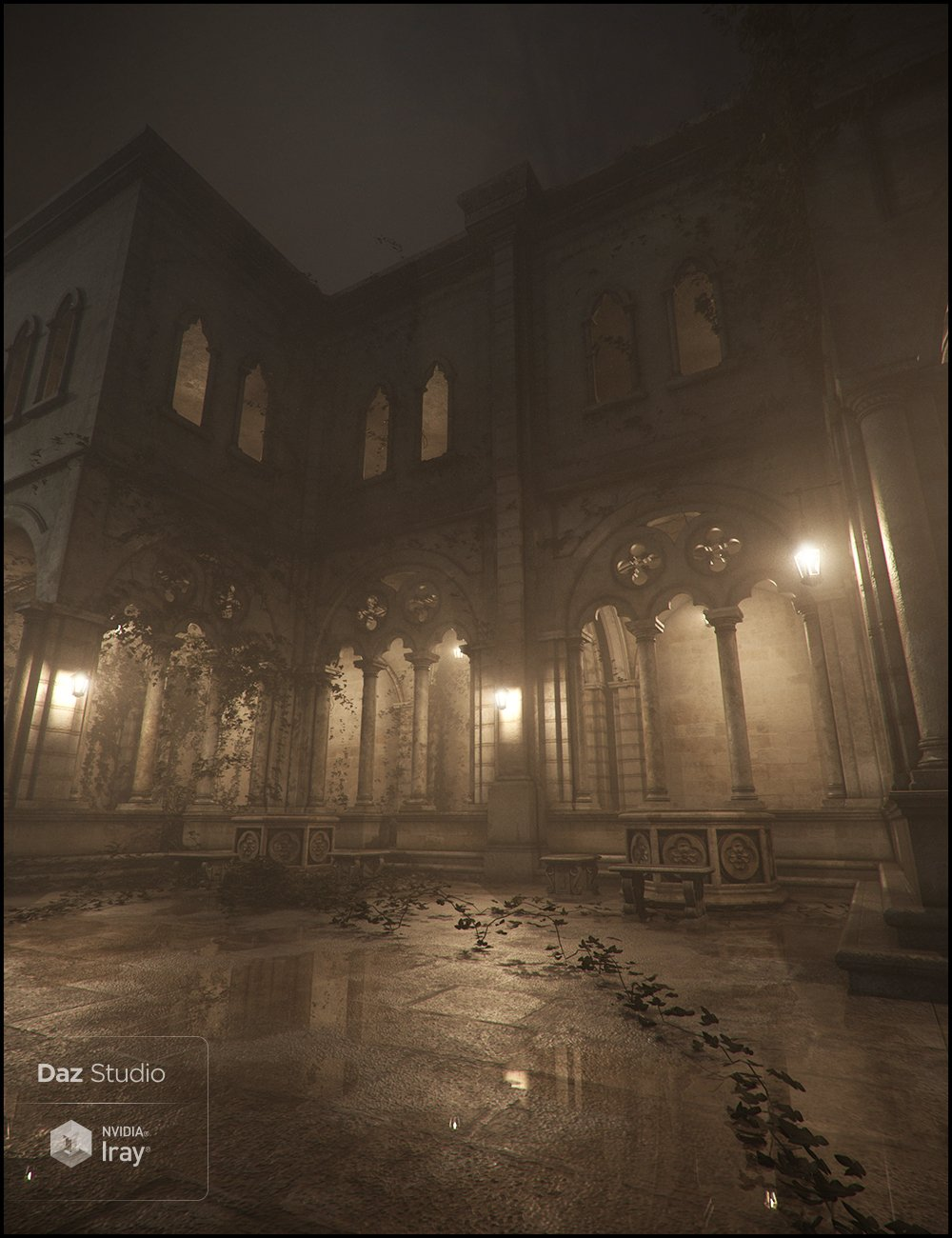 Claustrum Iray Addon by: Jack Tomalin, 3D Models by Daz 3D