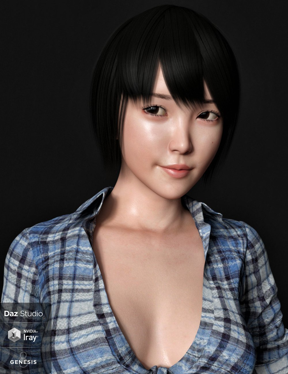 Yuna Character and Hair for Genesis 8 Female by: Goanna, 3D Models by Daz 3D