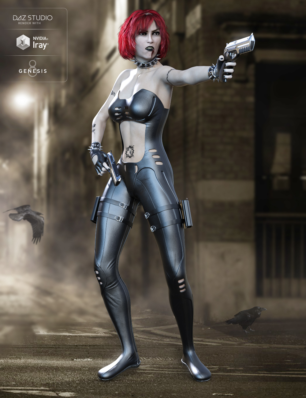 Widow Slayer for Genesis 8 Female(s) by: midnight_stories, 3D Models by Daz 3D