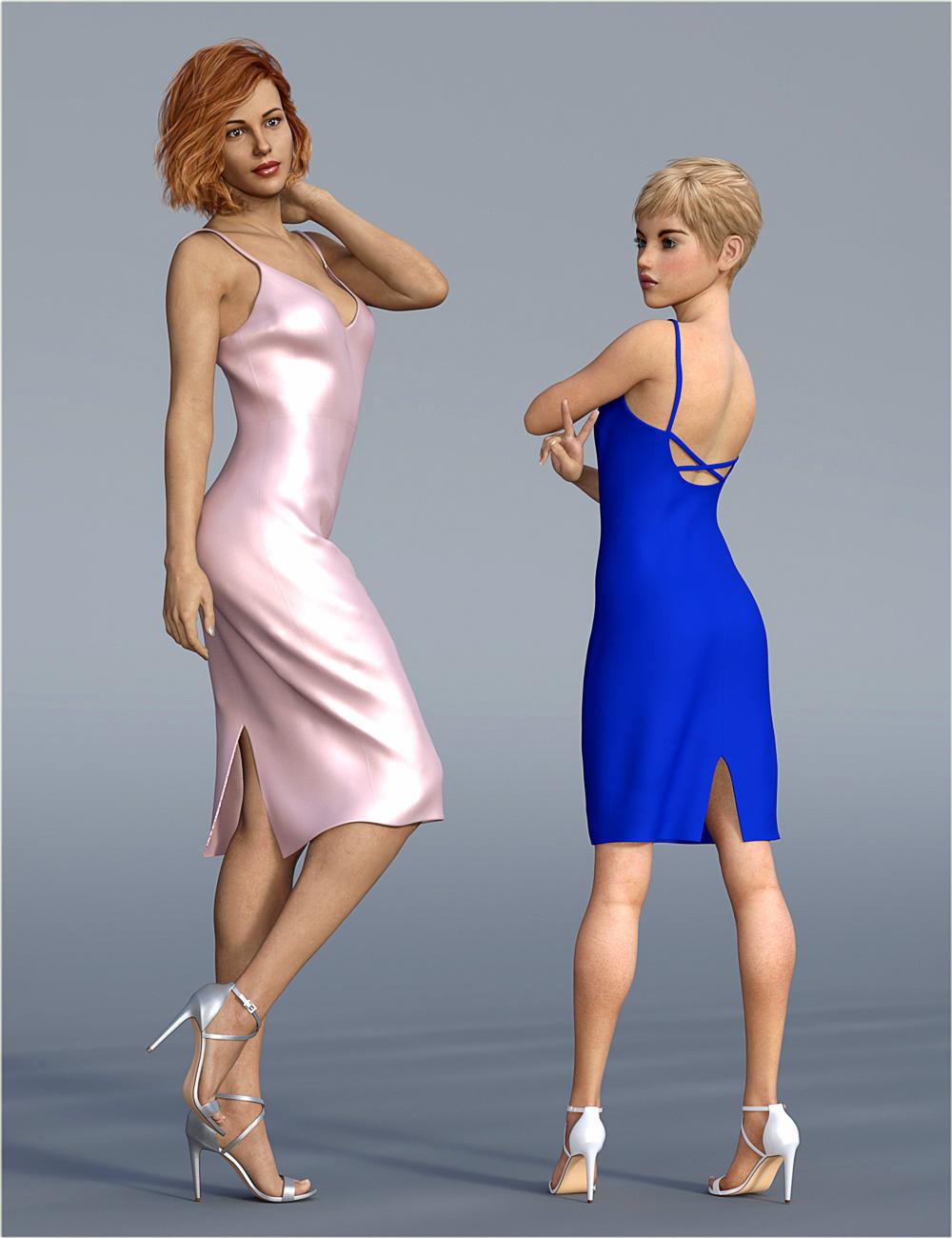 dForce H&C Open Back Dress for Genesis 8 Female(s) by: IH Kang, 3D Models by Daz 3D
