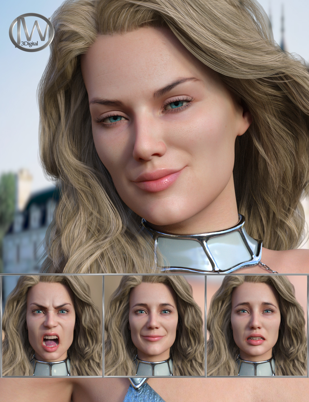 Perfect Goddess - Expressions for Genesis 8 Female and Ellithia 8 by: JWolf, 3D Models by Daz 3D