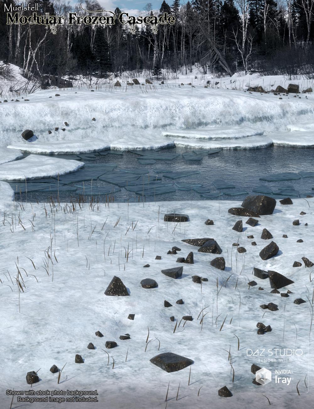Muelsfell Modular Frozen Cascade by: E-Arkham, 3D Models by Daz 3D
