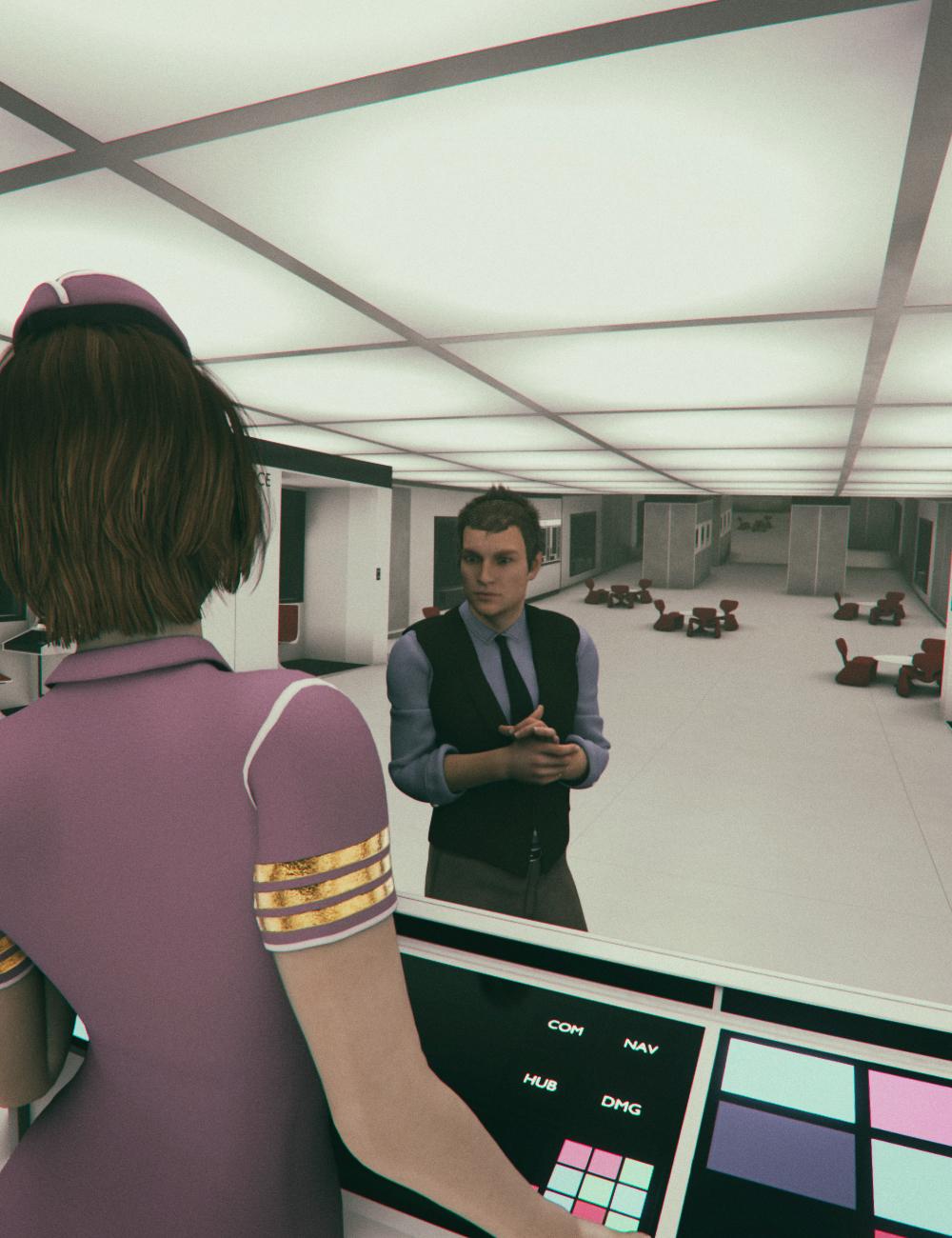 Retro Sci-fi Corridor by: Mely3D, 3D Models by Daz 3D