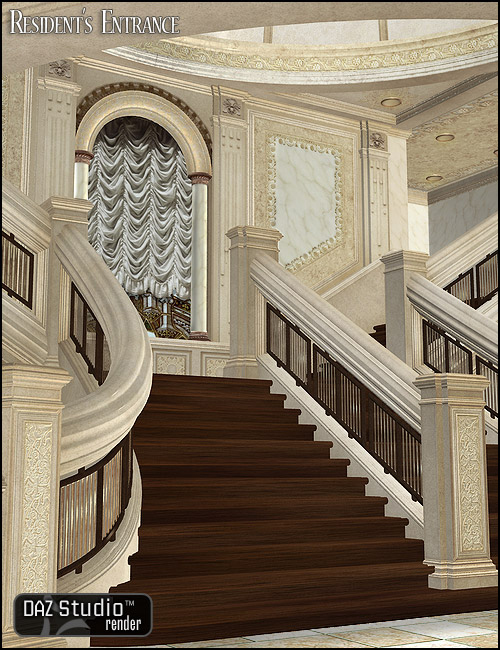 Residence Entry for Grand Staircase by: , 3D Models by Daz 3D