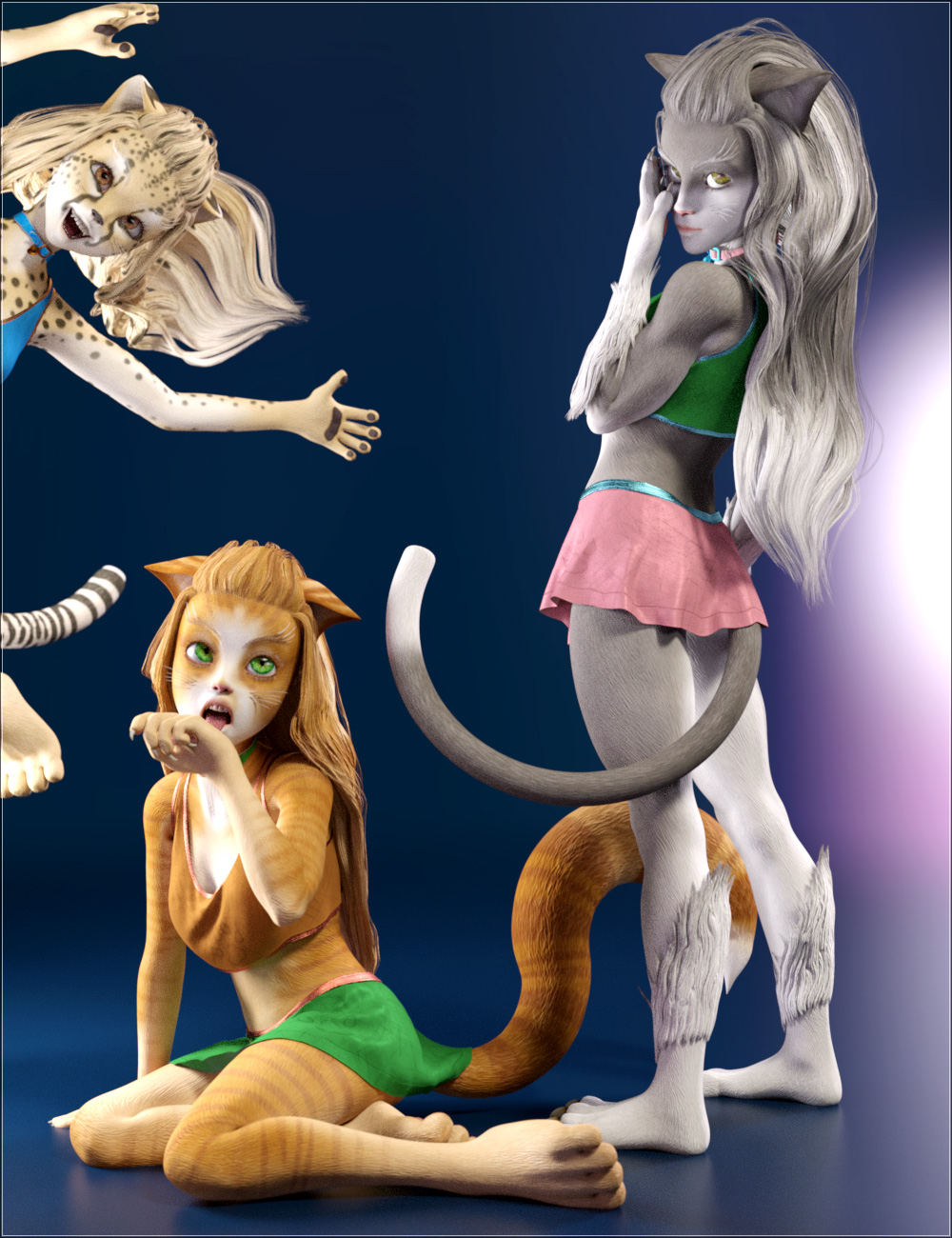 Catgirl Megapack for Genesis 8 Female(s) by: MABWillDupre, 3D Models by Daz 3D