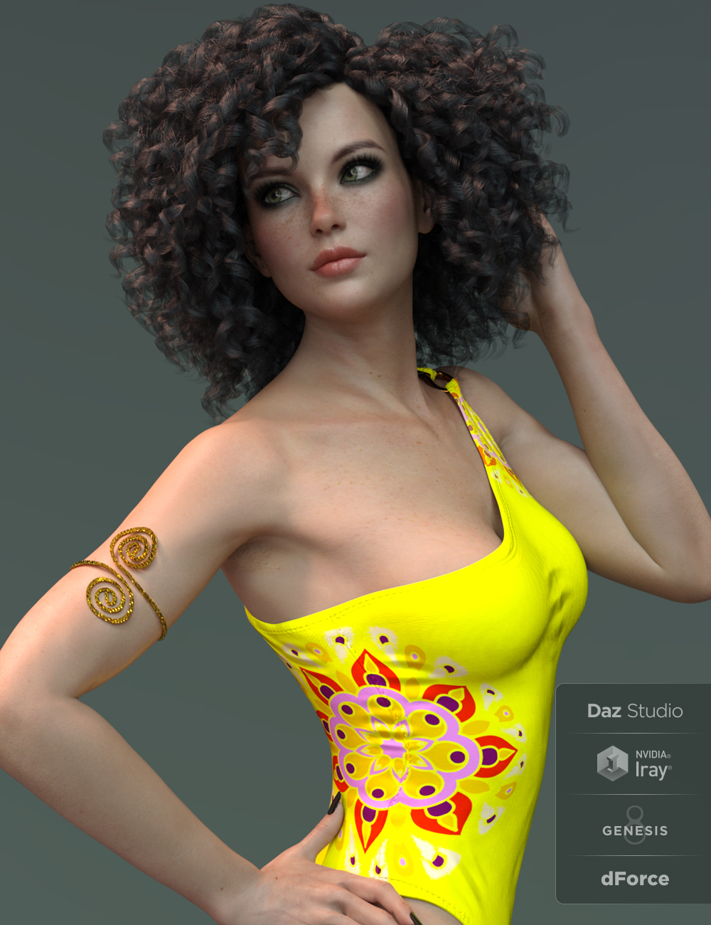 X-Fashion Mandala Swimsuit for Genesis 8 Female(s) by: xtrart-3d, 3D Models by Daz 3D