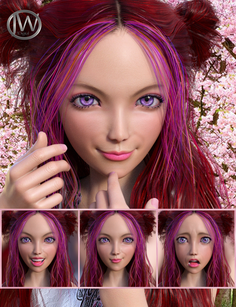 My Style - Expressions for Genesis 8 Female and Kanade 8 by: JWolf, 3D Models by Daz 3D