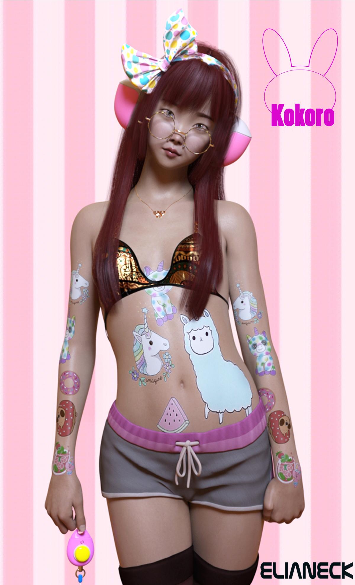 Kokoro for Genesis 8 Female by: Elianeck, 3D Models by Daz 3D