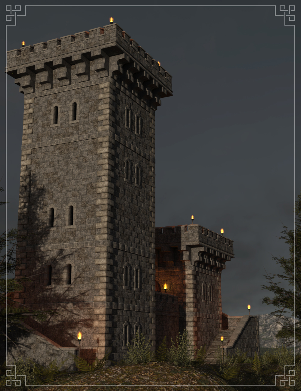 FM Tower of Hope by: Flipmode, 3D Models by Daz 3D