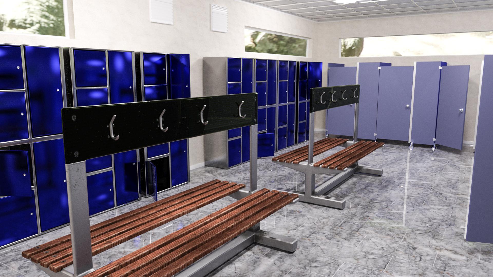 Locker Room by: Serum, 3D Models by Daz 3D