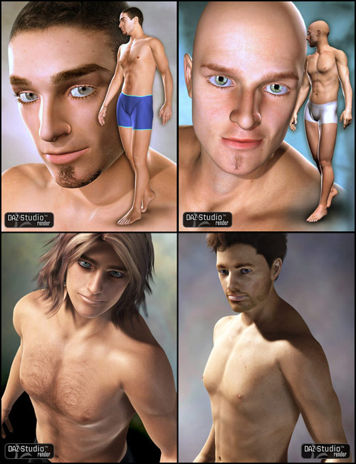 Victoria 4 GW1-4 Male Bundle by: Jepemutedbanshee3DCelebrityMint, 3D Models by Daz 3D