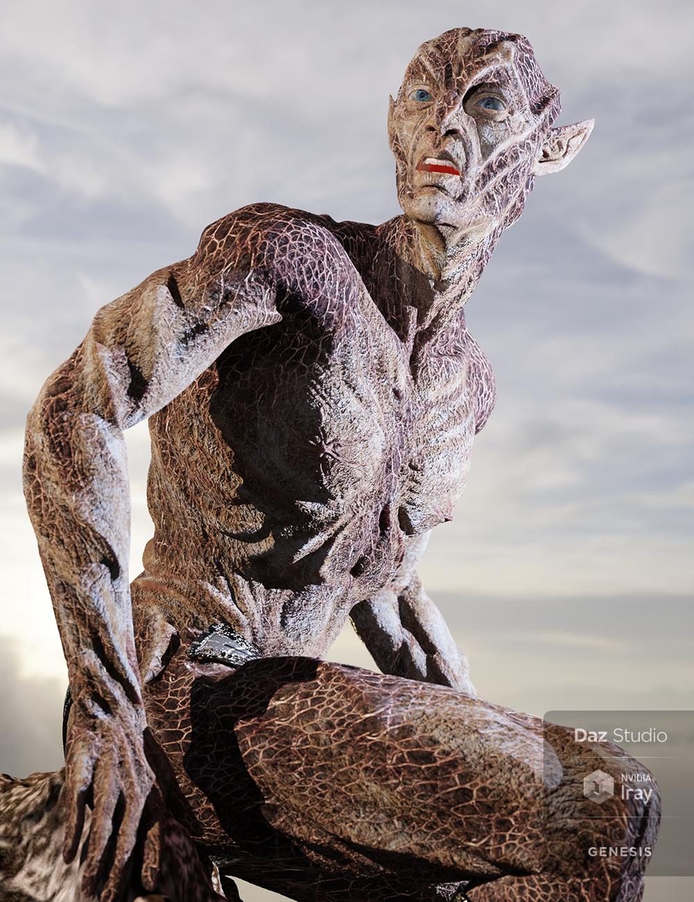 Oumua HD Alien Creature for Genesis 8 Male by: Sixus1 Media, 3D Models by Daz 3D