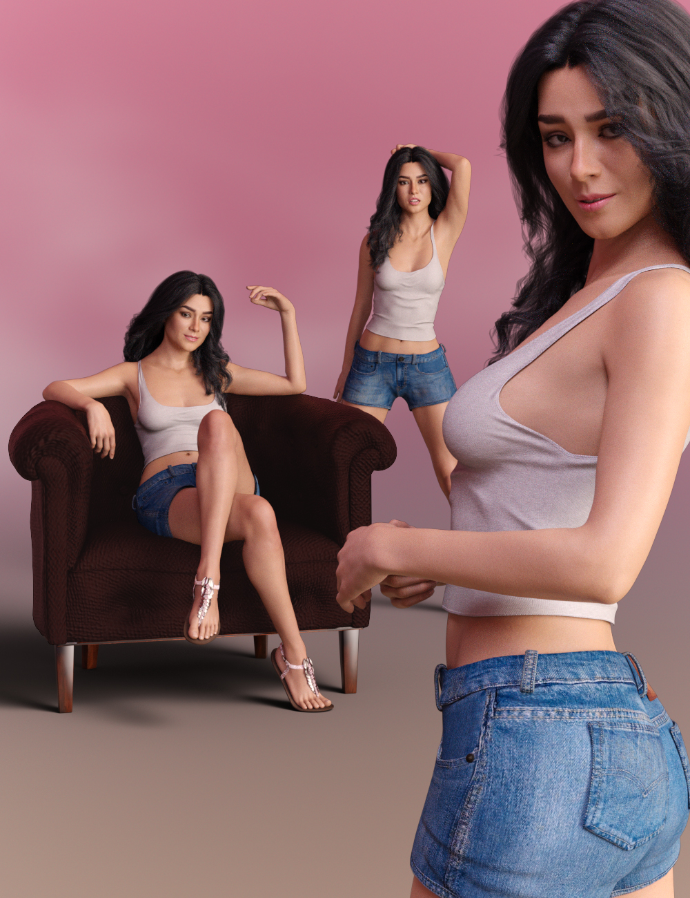 Delight Poses for Gabriela 8 and Genesis 8 Female by: lunchlady, 3D Models by Daz 3D