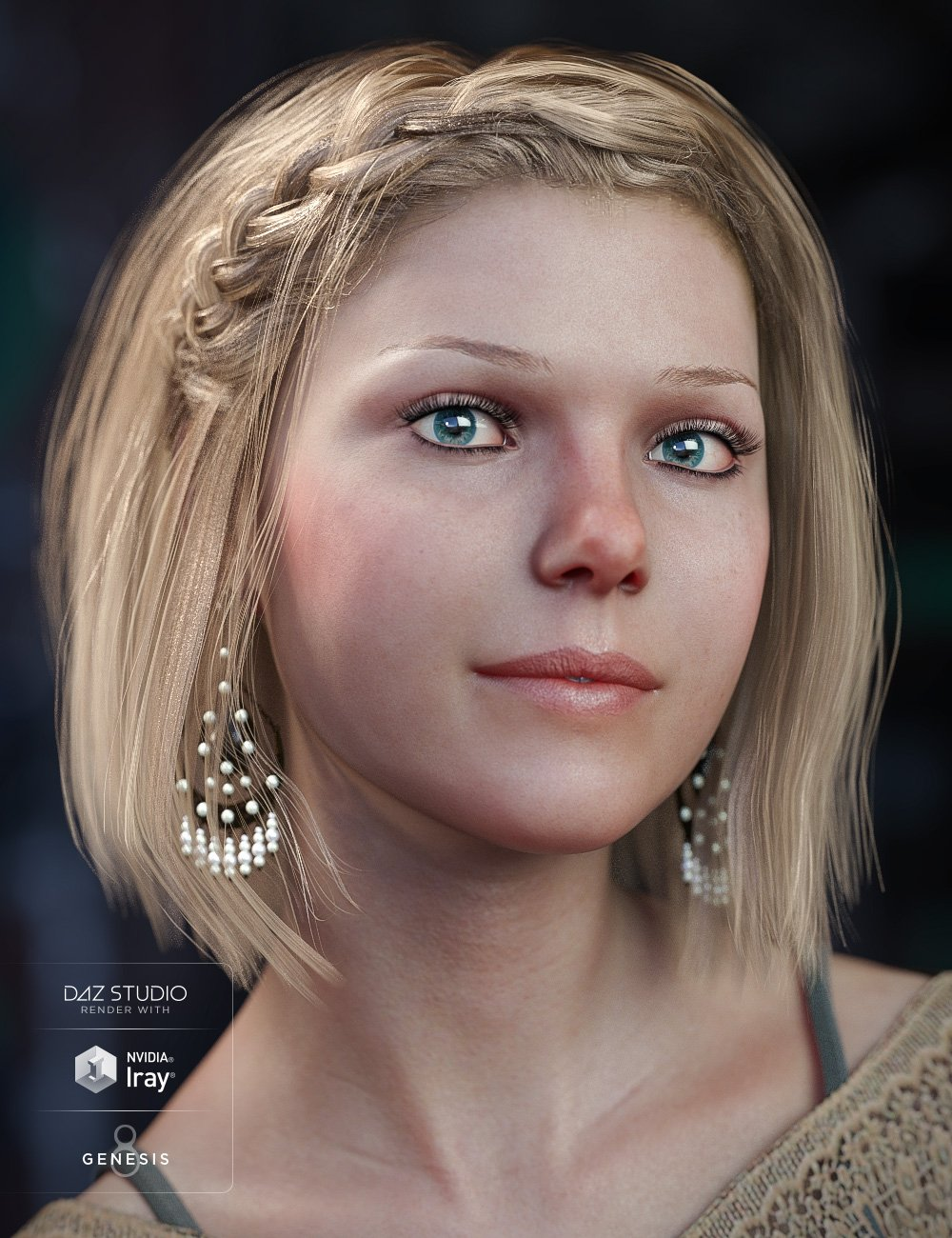 Julissa Hair for Genesis 3 and Genesis 8 Female(s) by: goldtassel, 3D Models by Daz 3D