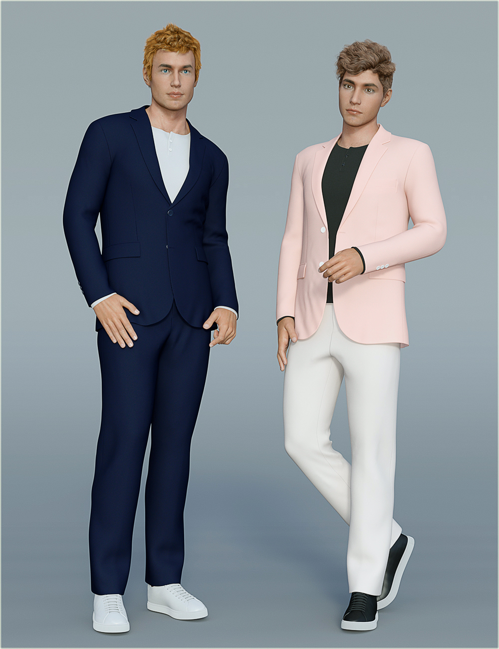 dForce H&C Spring Casual Suits for Genesis 8 Male(s) by: IH Kang, 3D Models by Daz 3D