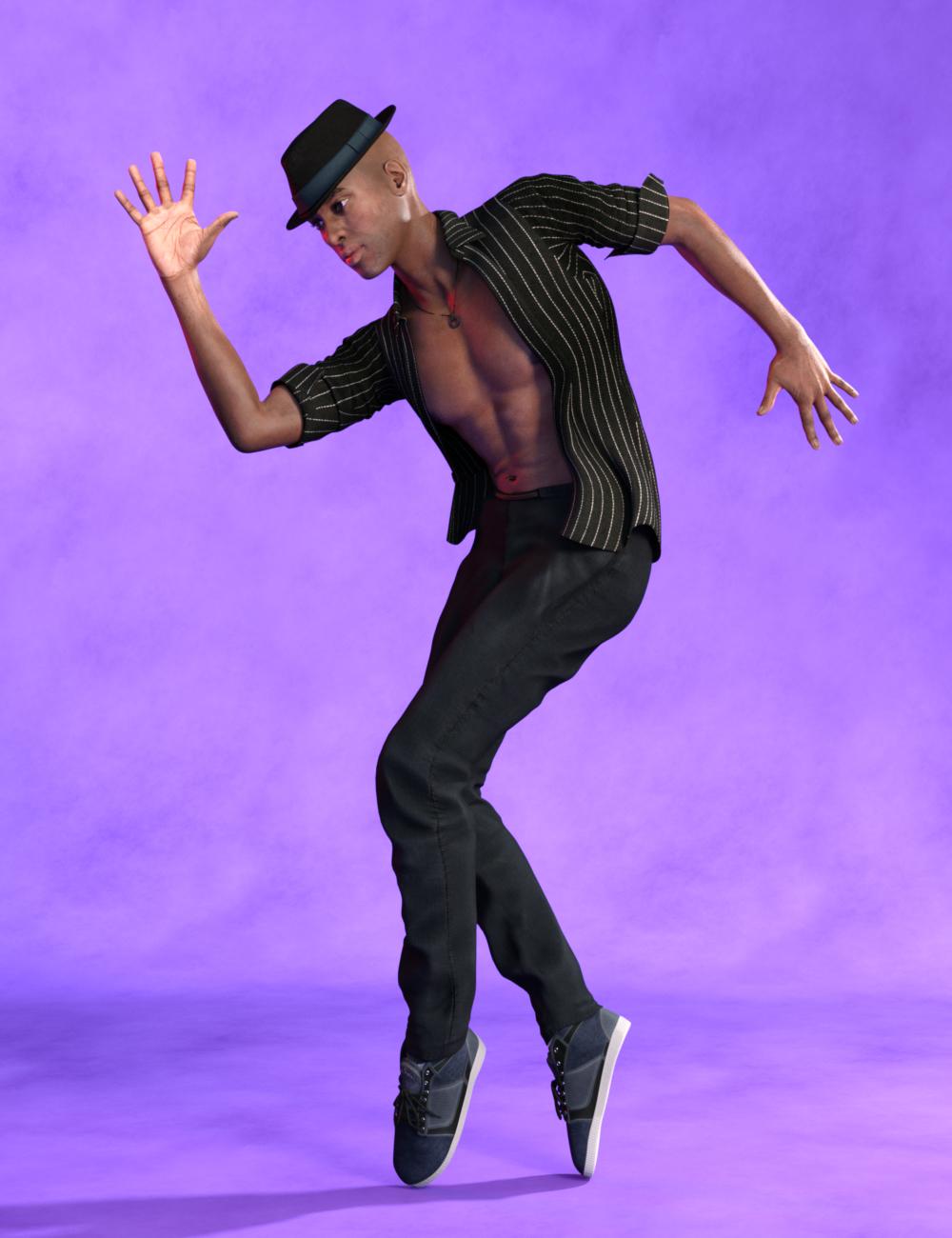 Expressive Dancer Poses for Genesis 8 Male by: Vyusur, 3D Models by Daz 3D