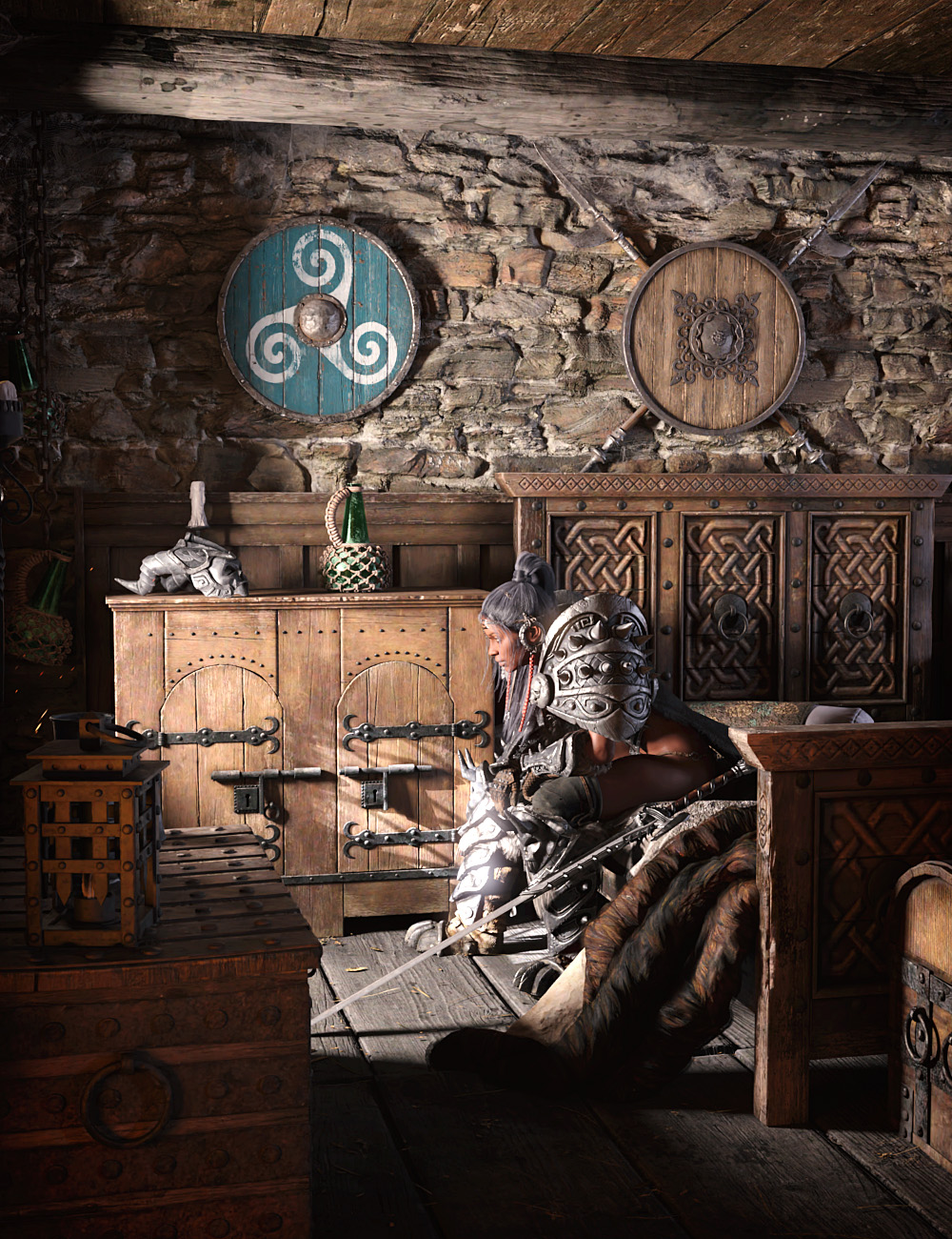 ROG Medieval Fantasy Bedroom by: StrangefateRoguey, 3D Models by Daz 3D