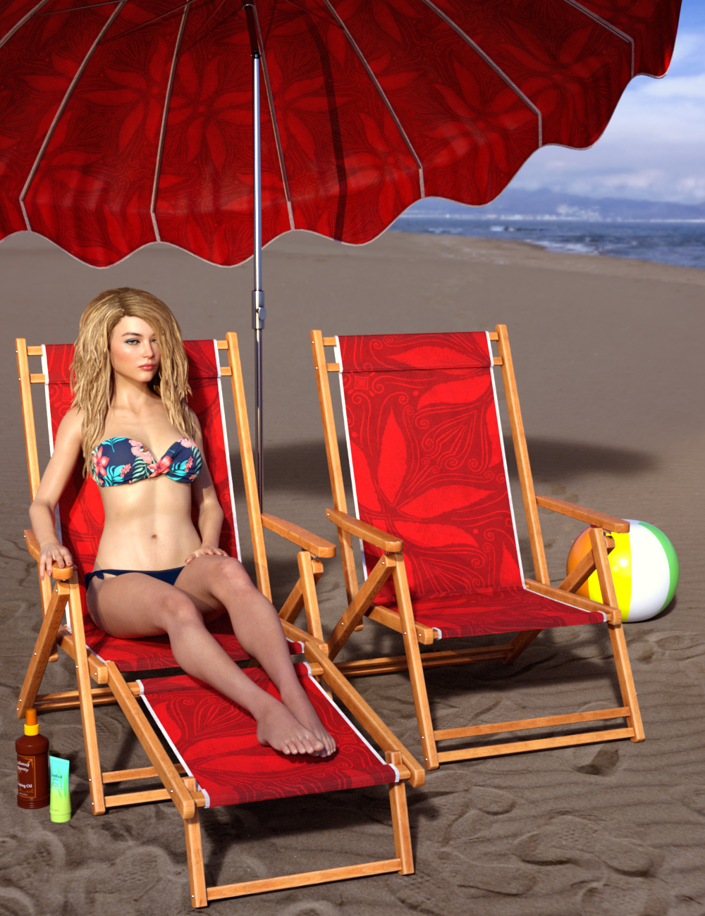 Beach Party Props by: ARTCollaborations, 3D Models by Daz 3D