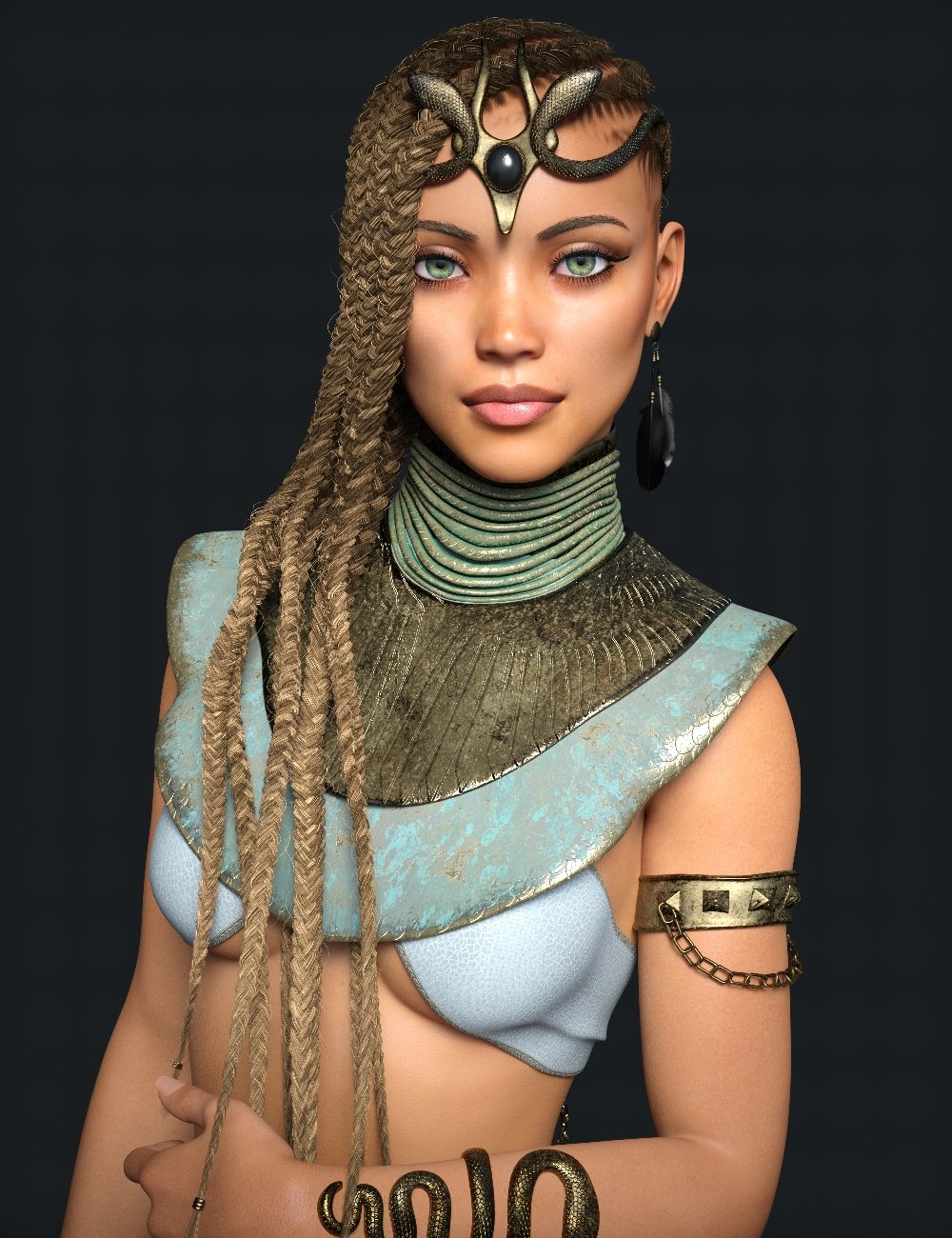 Akila Character with Hair Textures for Genesis 8 Female by: Handspan Studios, 3D Models by Daz 3D