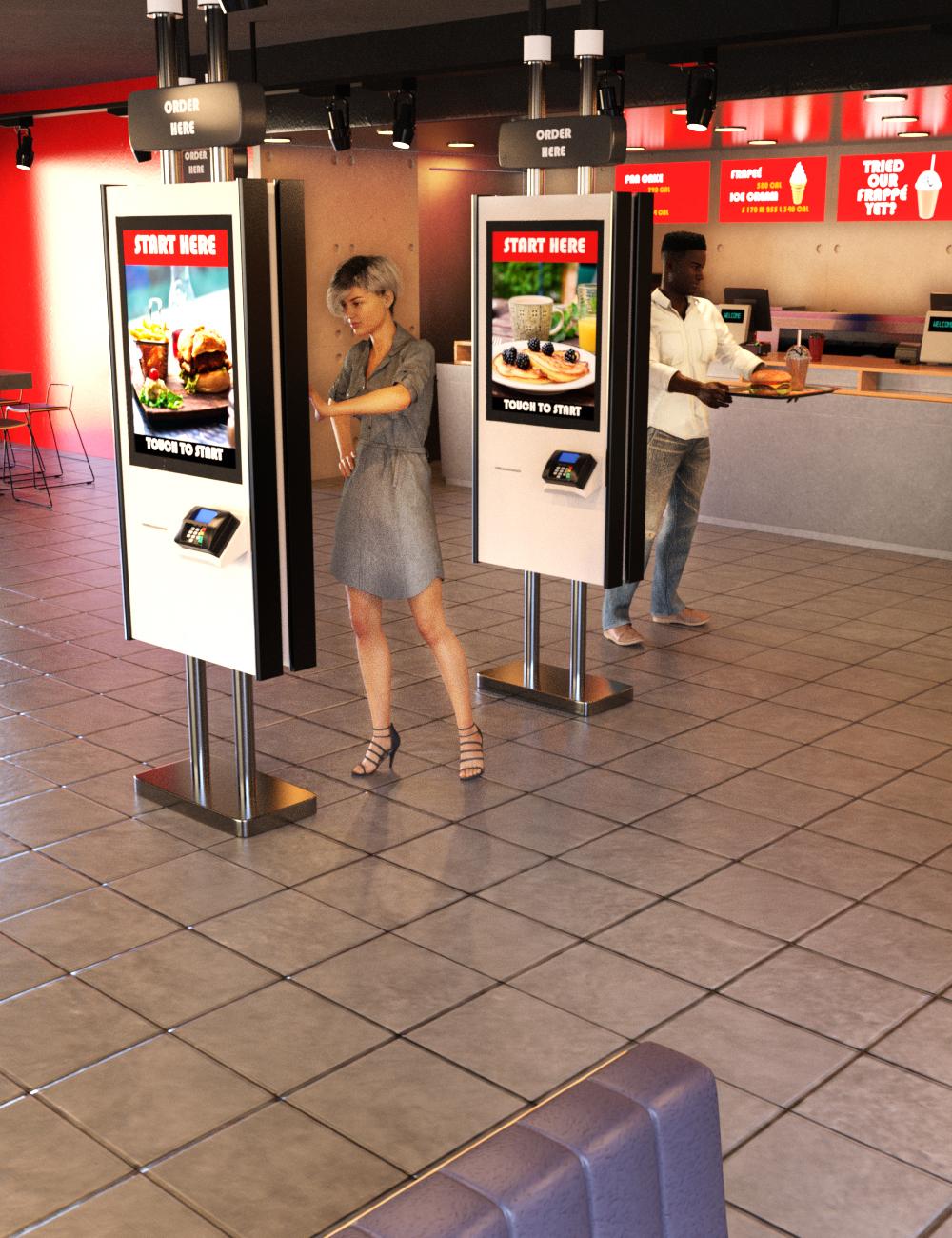 Burger Restaurant by: Charlie, 3D Models by Daz 3D