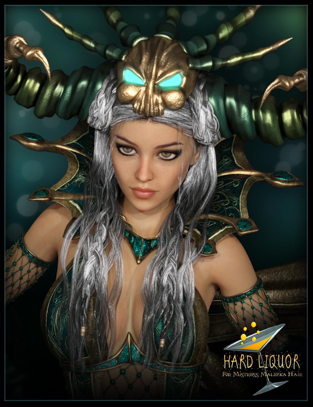 Hard Liquor for Mistress Malefica Hair by: IgnisSerpentus, 3D Models by Daz 3D