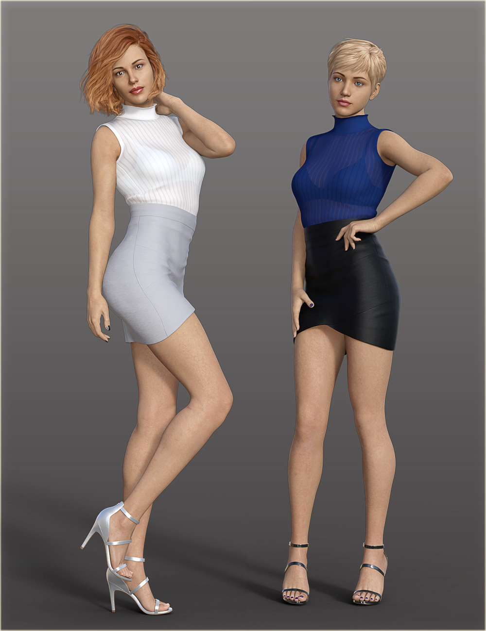 H&C Bandage Mini Skirt Outfit for Genesis 8 Female(s) by: IH Kang, 3D Models by Daz 3D