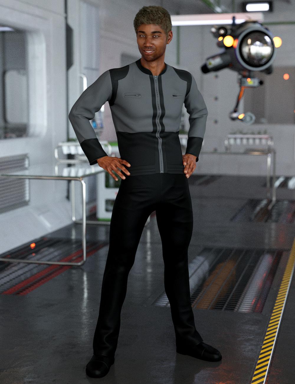 dForce Bridge Officer Outfit for Genesis 8 Male(s) by: NikisatezDestinysGarden, 3D Models by Daz 3D