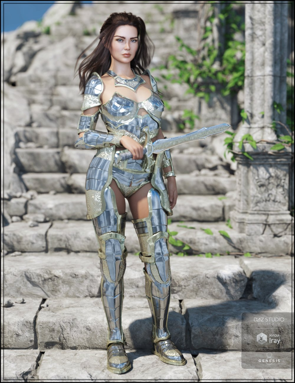 Oracle Armor for Genesis 8 Female(s) by: Trickster3DX, 3D Models by Daz 3D