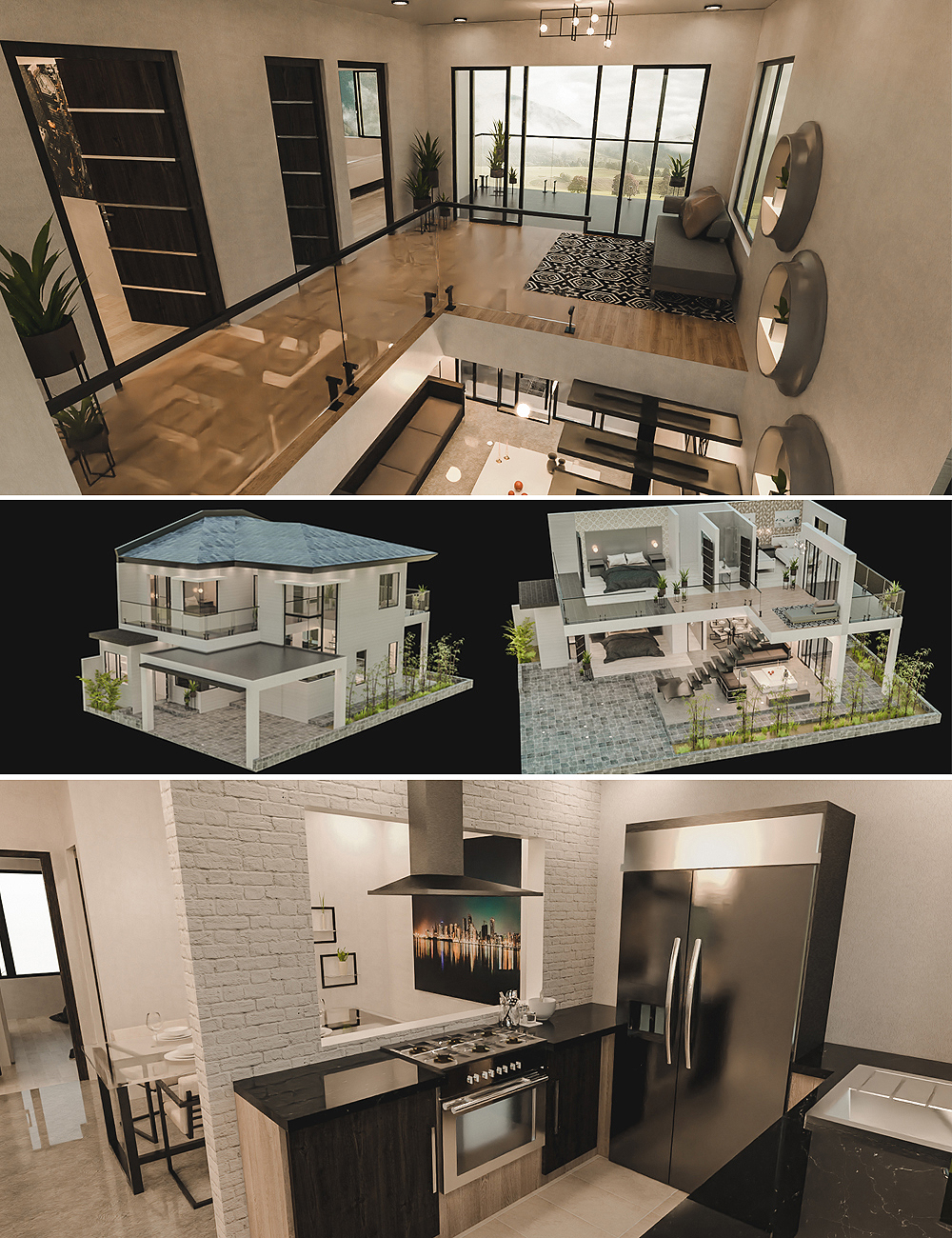 Modern Vacation House by: Tesla3dCorp, 3D Models by Daz 3D