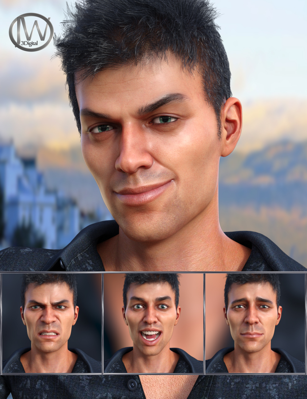 Modern Man - Expressions for Genesis 8 Male and Diego 8 by: JWolf, 3D Models by Daz 3D