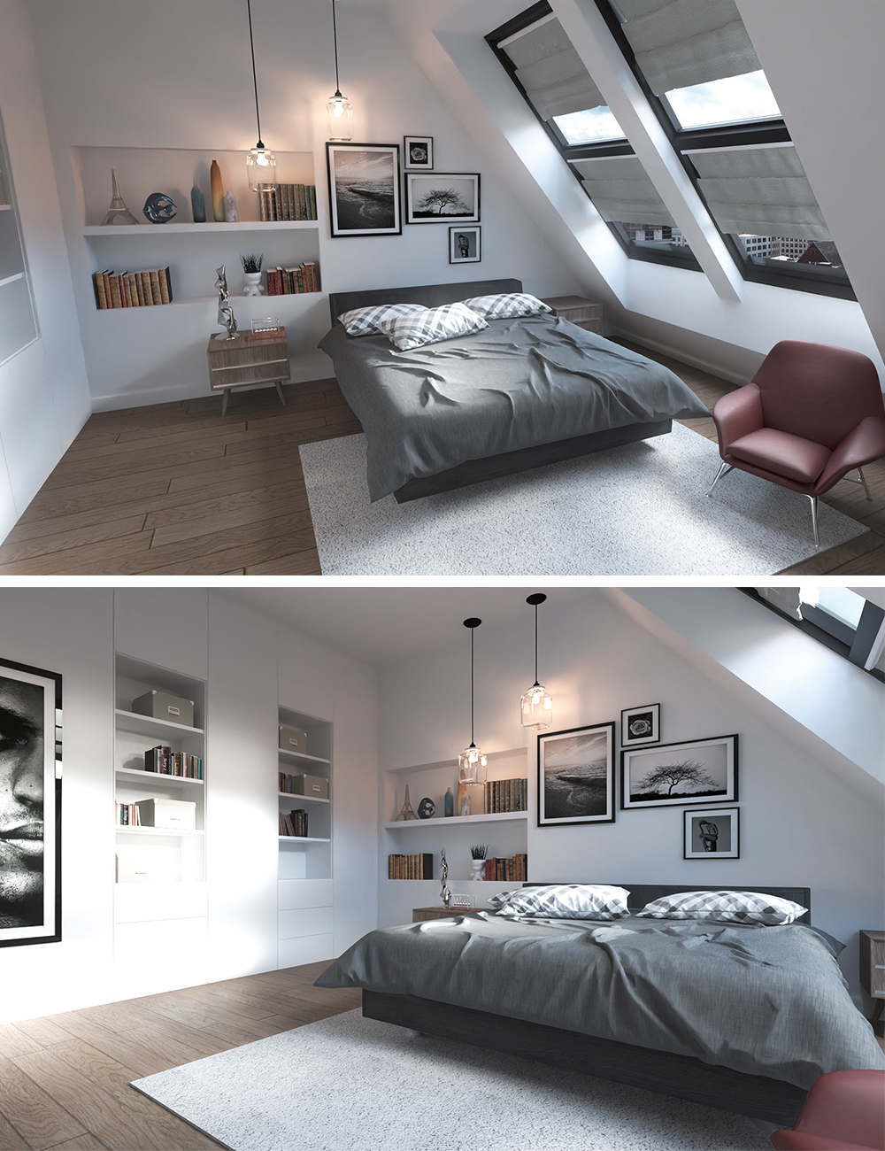 Attic Bedroom by: Digitallab3D, 3D Models by Daz 3D