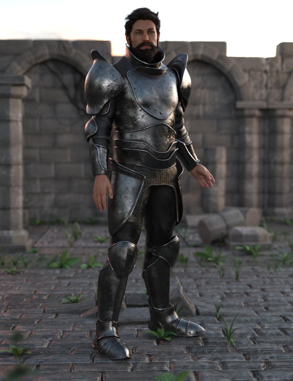 Battleworn Armor for Genesis 8 Male by: Moonscape GraphicsSapphire3DSade, 3D Models by Daz 3D